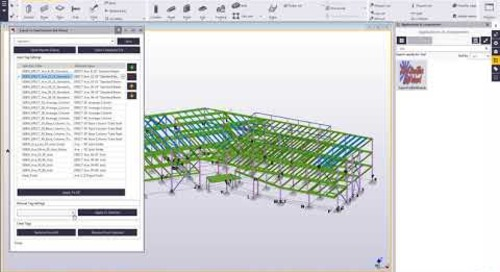 Export to Steel Erection Bid Wizard in Tekla Structures