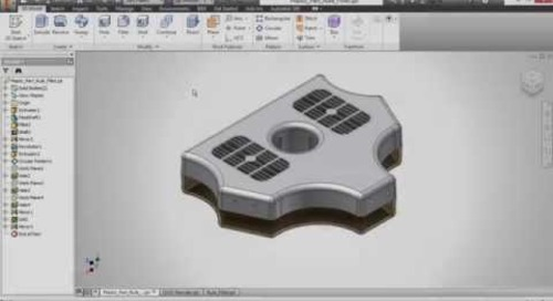 Autodesk Inventor - Plastic Part Commands: Rule Fillet