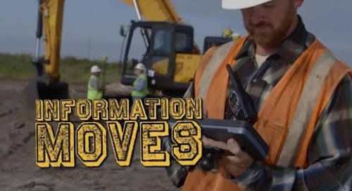 Machines Move Dirt, but Information Moves Mountains.