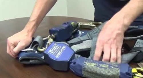 How to install the 3M™ DBI-SALA® Nano-Lok™ Twin-Leg SRL with Triple Locking Carabiner