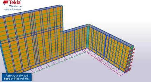 Tekla Structures Handset Formwork System