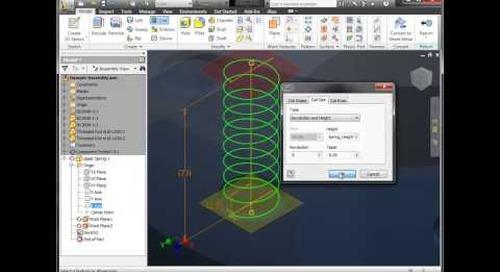 Autodesk Inventor - Adaptive Springs