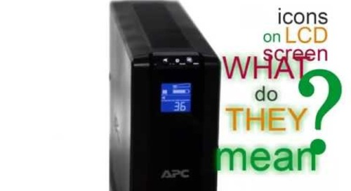 APC by Schneider Electric - LCD Icons, What do they mean?