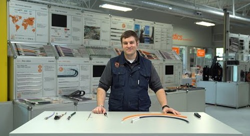 chainflex® flexible cables - How to strip and prepare a shielded cable for termination