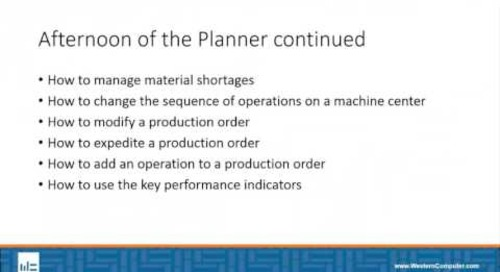 An afternoon on the Manufacturing Floor with Dynamics NAV & PlannerOne