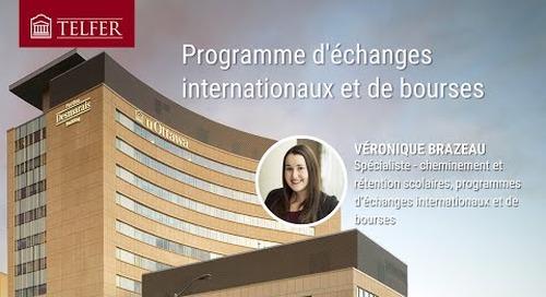 Programme d'échanges internationaux et de bourses
