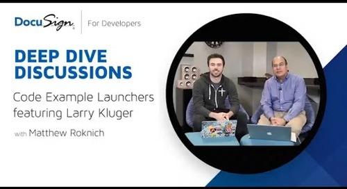 DocuSign Developer: Code Example Launchers