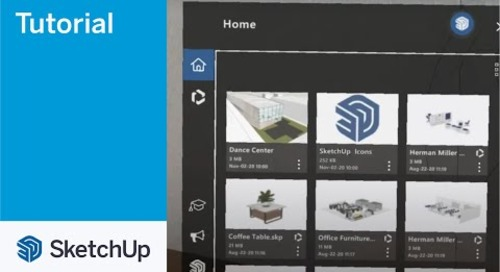 SketchUp Viewer for Hololens 2 02 Home Screen Tour