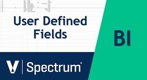 Spectrum BI User Defined Fields