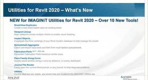 What's New in IMAGINiT Utilities for Revit 2020