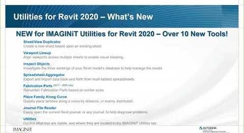 What's New in IMAGINiT Utilities for Revit 2020