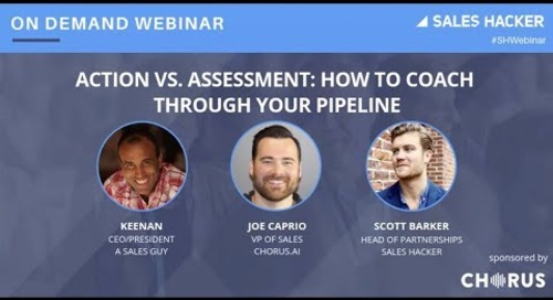 Action vs Assessment: How to Coach Through Your Pipeline