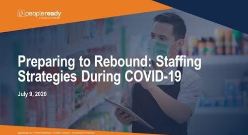 Webinar: Preparing to Rebound Staffing Strategies During COVID-19
