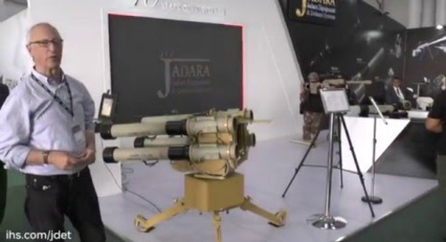 SOFEX 2016: JADARA Equipment & Defence Nashshab RPG-32 QUAD-1 ground-based launcher system
