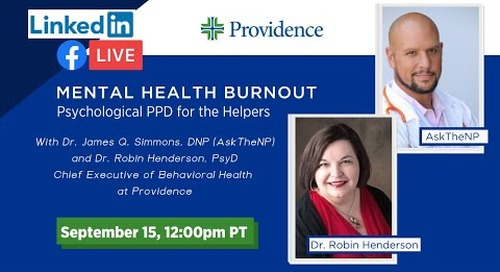 Mental Health Burnout: Psychological PPE for the Helpers