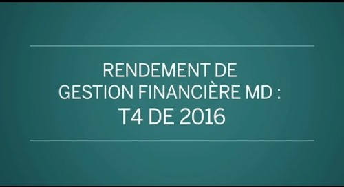 Rendement de Gestion financière MD : T4 de 2016