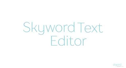 Skyword Text Editor