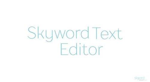 Skyword Text Editor
