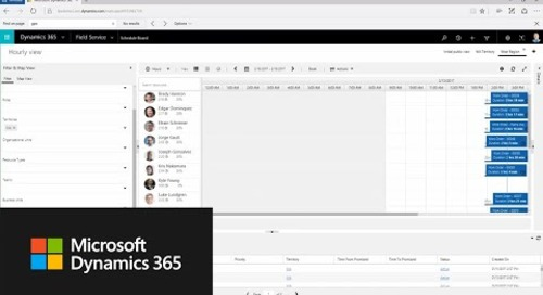 Set up and use the schedule board in Microsoft Dynamics 365 for Field Service