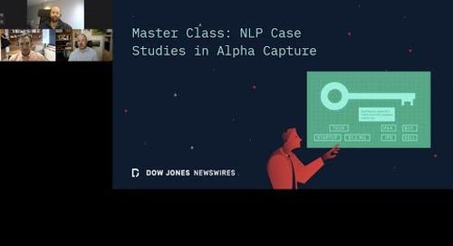 Webinar Recording | Master Class: NLP Case Studies in Alpha Capture