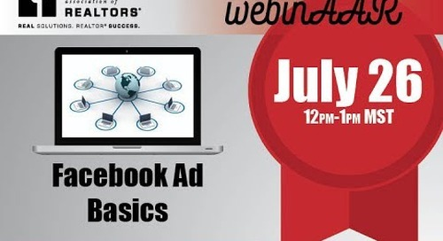 Start Smart Webinar Facebook Ad Basics