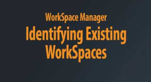 WorkSpace Manager - Template Properties Chaptered