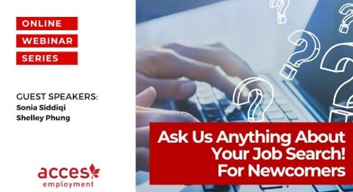 Ask Us Anything About Your Job Search! For Newcomers