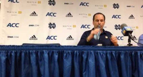 Mike Brey Press Conference (1-30-14)