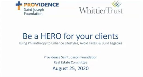 Providence Saint Joseph Real Estate Committee Presentation