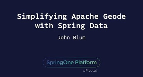 Simplifying Apache Geode with Spring Data - John Blum