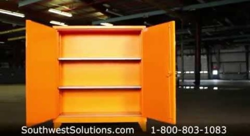 Flammable Safety Cabinet | Industrial Combustible Liquid Storage