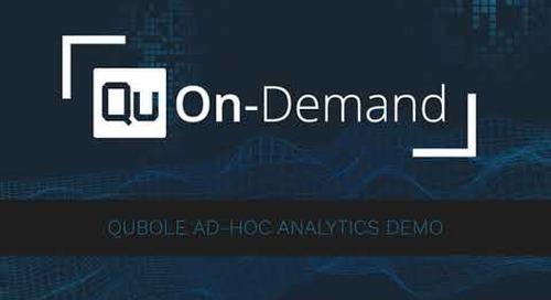 Qubole On-Demand - Ad-Hoc Analytics Demo
