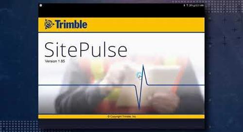 Trimble SitePulse: Initial Setup and Site Selection