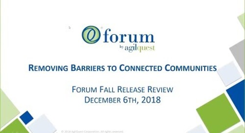 Webinar - How the Forum is Breaking Barriers to Connected Communities