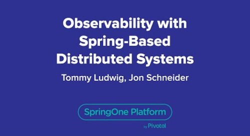 Observability with Spring-Based Distributed Systems