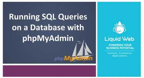 Running SQL Queries on a Database with PhpMyAdmin