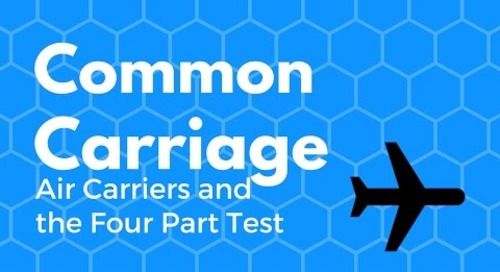 What Is an  Air Carrier - Common Carriage 4 part test and Part 91 Operations