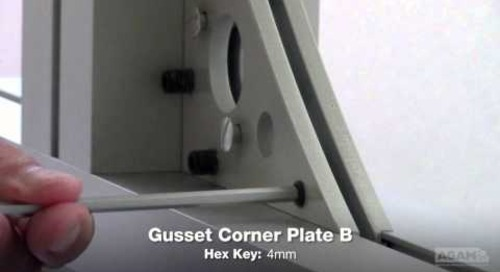 Gusset Corner Plate B (Reference: 400 01) Assembly