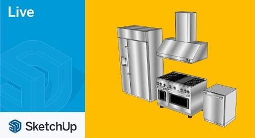 Modeling GE Appliance in SketchUp Live!