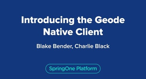 Introducing the Geode Native Client