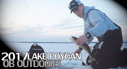 Lake Poygan Late Ice Walleye / White Bass Fishing 2017