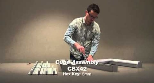 FH7690 Extrusion and FH7690 End Plate: Cube Assembly