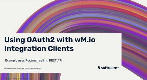 Using OAuth2.0 with webMethods.io Integration Clients
