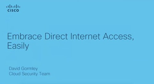 Embrace Direct Internet Access, Easily