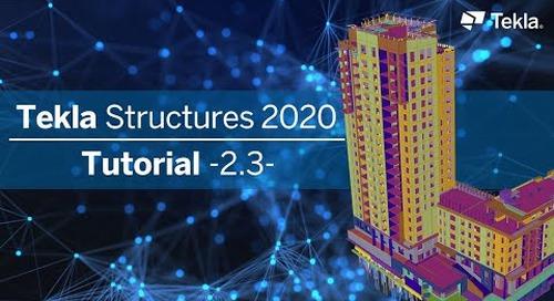 Tutorial Tekla Structures 2020 | 2.3 Dachebene modellieren