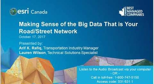 Making sense of the Big Data that is your roadstreet network