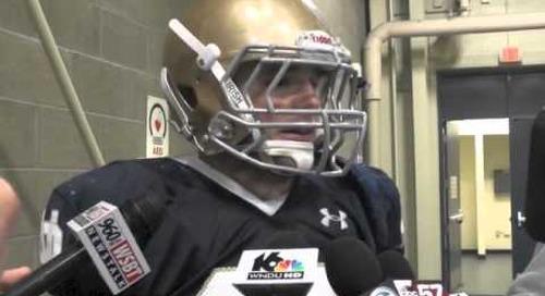 Notre Dame LB Joe Schmidt - Pre Navy