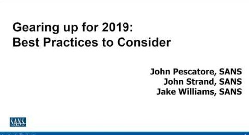 Gearing up for 2019 – Best Practices to Consider