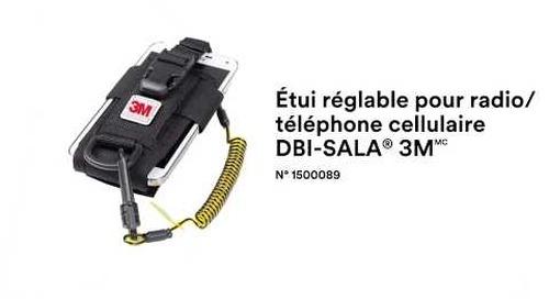 Comment utiliser l'Étui réglable pour radio/téléphone cellulaire DBI-SALA® 3M correctement
