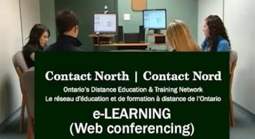 e-Learning (web conferencing) at Contact North | Contact Nord